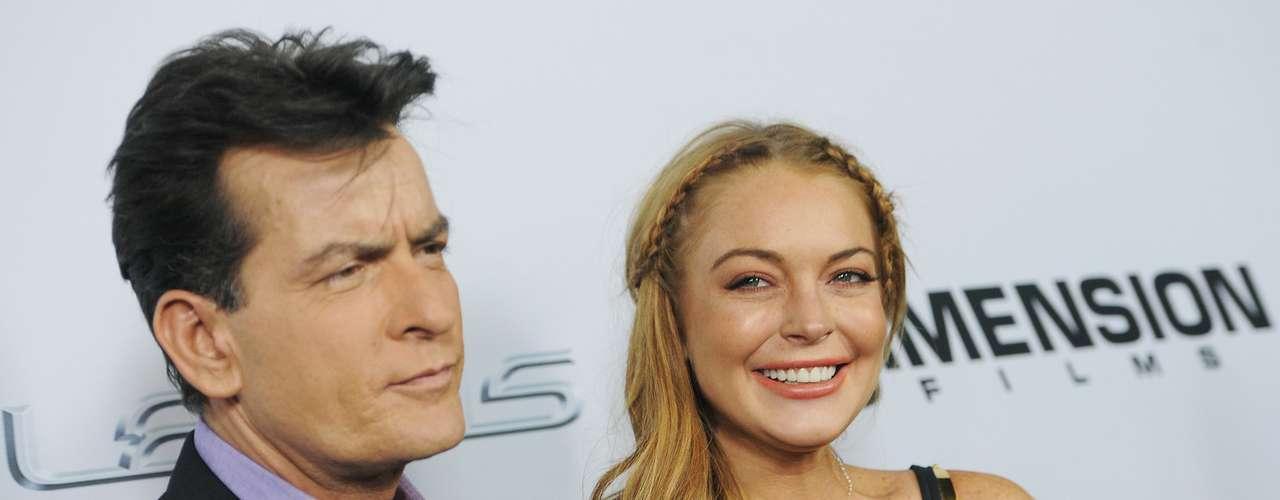 Por su parte, Sheen dejó de lado la polémica y se le vio muy amable con Lindsay