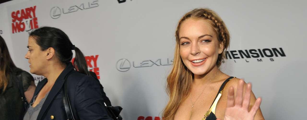 Sin embargo, Lindsay parecía muy contenta en el estreno después de tantos escándalos que la rodean.