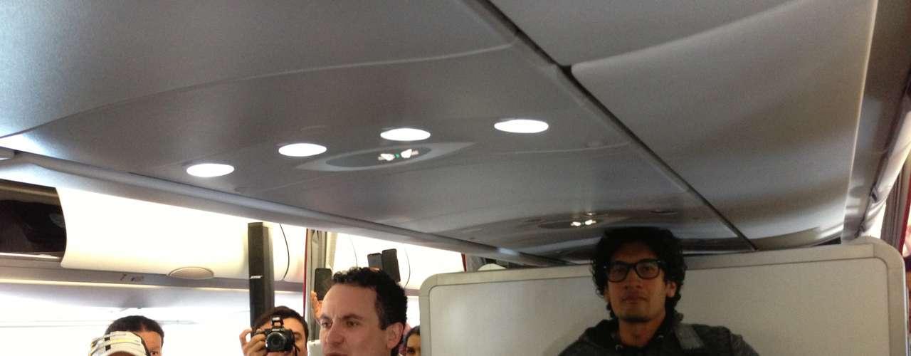El Airbus con Fonseca y su equipo despegó a las 10:20 am de Bogotá.