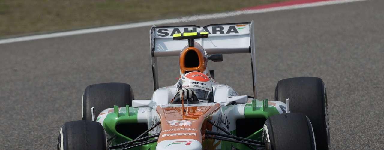 Adrian Sutil fue el piloto más rápido de los dos Force India.