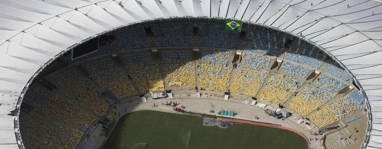 El Estadio Maracaná, el inmueble inaugurado en 1950 y que se encuentra en remodelación para la próxima Copa del Mundo en el 2014.