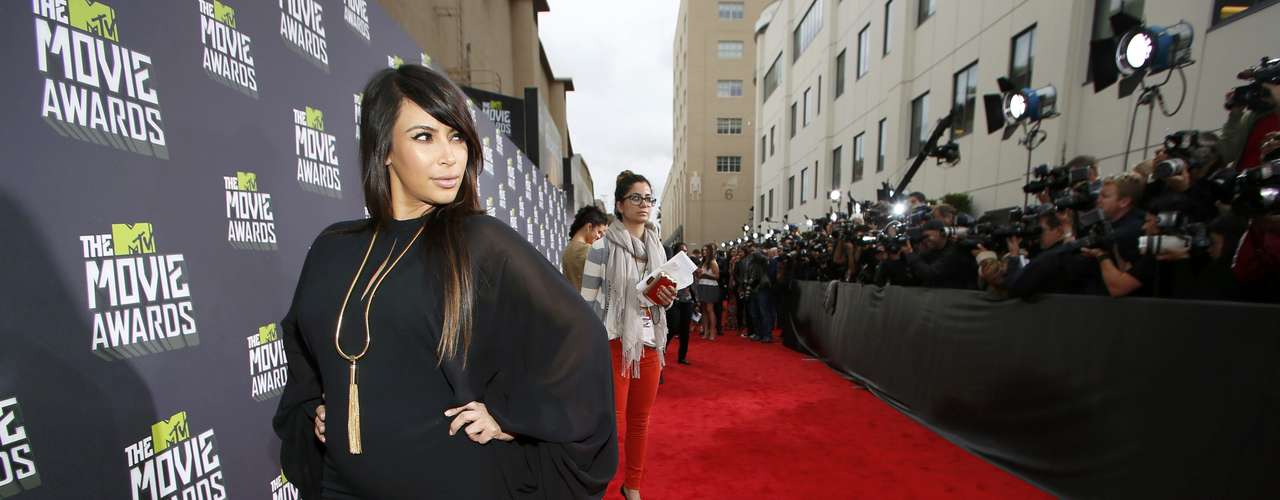 Kim Kardashian llegó sin su compañero Kanye West