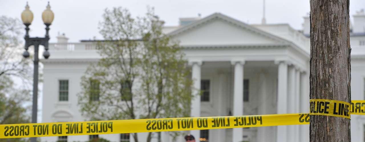 La Casa Blanca fue acordonada como una medida preventiva de seguridad.