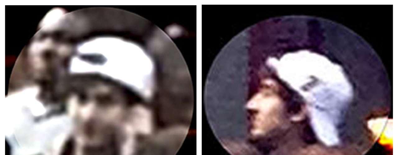 Dzhokhar Tsarnaev cerca de la meta de la maratón de Boston, el día de los atentados, en el que murieron tres personas, incluido un niño de ocho años.