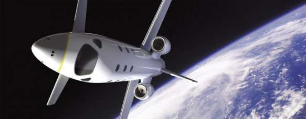 El avión Atrium EADS fuera de la atmósfera de la Tierra.