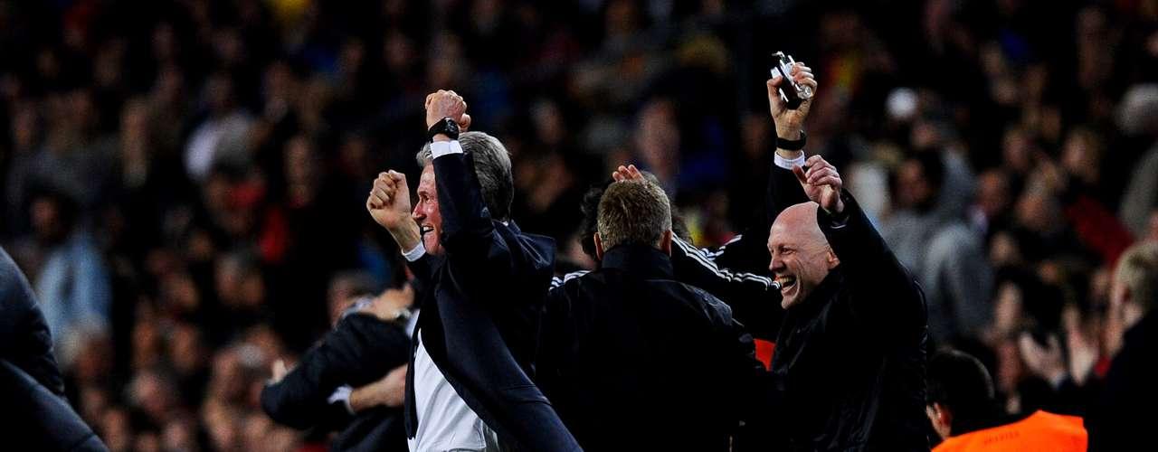 Y la motivación surtió efecto, pues Arjen Robben abrió el marcador al minuto 48, lo que fue el principio del fin para el Barcelona y una razón para que el técnico del equipo bávaro celebrara.