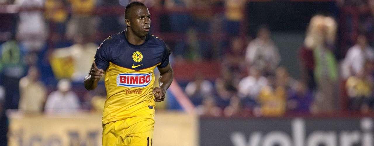 En la J.8, América humilló como visitante 4-0 al Atlante y el oriundo de Esmeraldas,Ecuador, hizo uno.