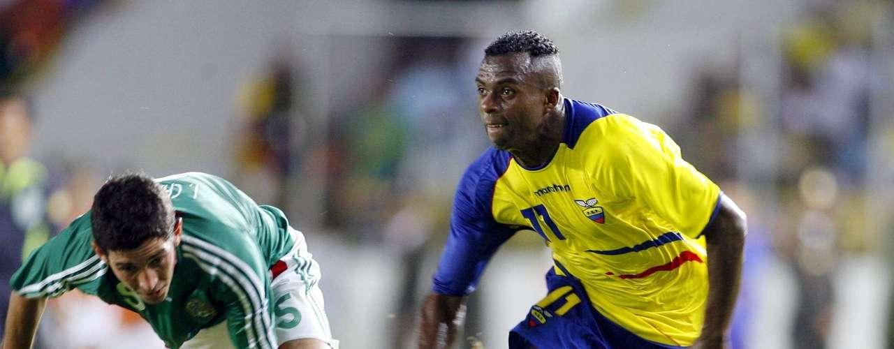'Chucho' suma 24 goles con Ecuador, uno de ellos contra México, en un amistoso en Zapopan, que le dio el triunfo 1-0 a su selección.