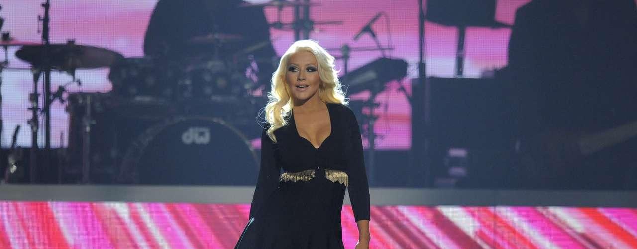 Christina se veía radiante, sexy, feliz y sobre todo entregada a la música que se ve es su única pasión en el mun