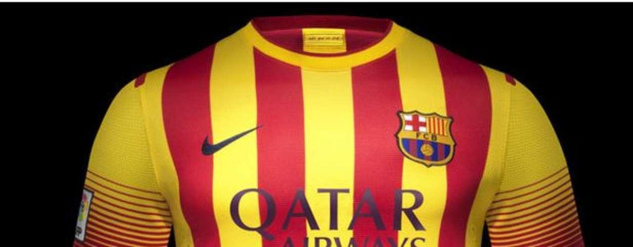 Tal vez como una disculpa a los aficionados por la equipación actual, el equipo volverá a los colores catalanes que representan la bandera 'senyera' en la camiseta visita.