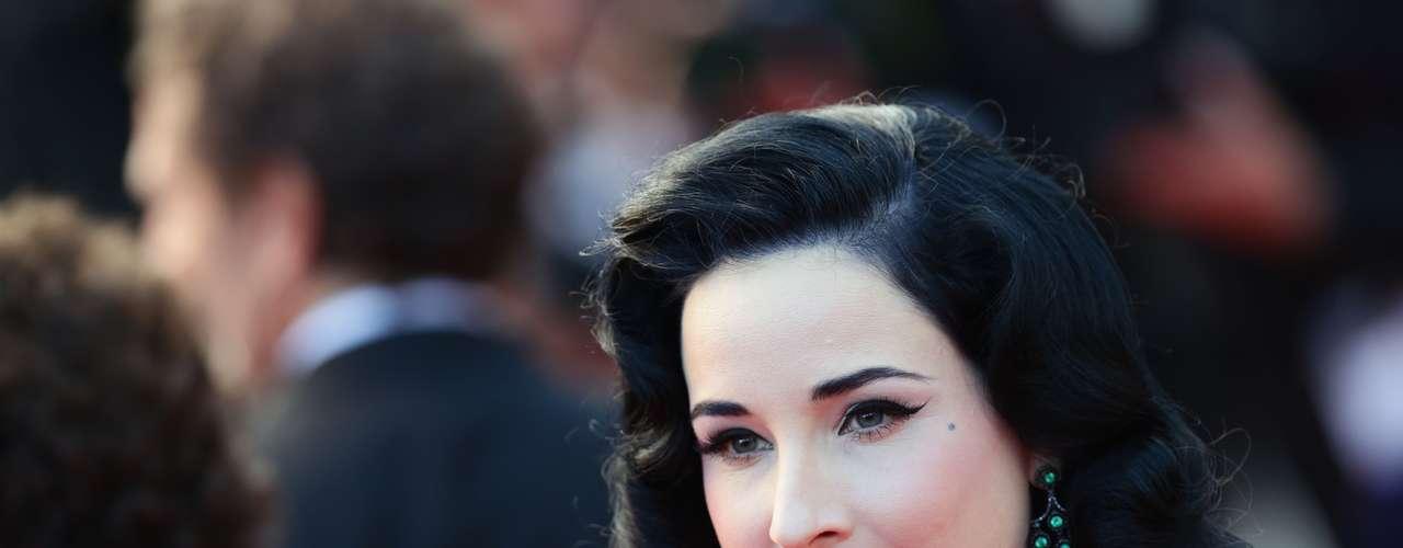 Dita Von asistió al estreno de 'Cleopatra' en la 66 ª edición del Festival de Cine de Cannes.