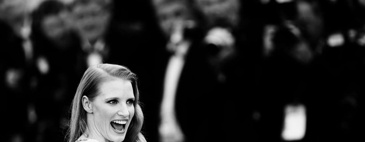 Jessica Chastain asistió al estreno de 'Cleopatra' en la 66 ª edición del Festival de Cine de Cannes.