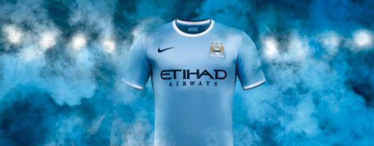 Manchester City will stick to its traditional colors in its new Nike kit, though with a different design.