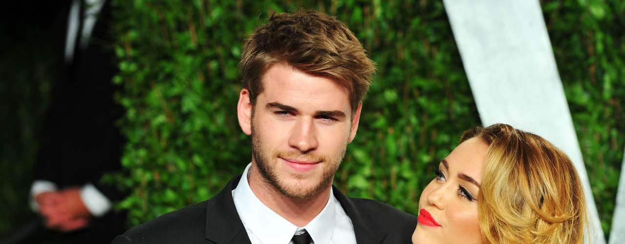 Miley y Liam Hemsworth.