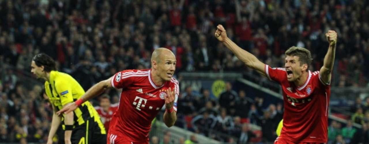Con gol de Robben en el último minuto el Bayern ganó 2-1 para convertirse en el nuevo campeón de Europa