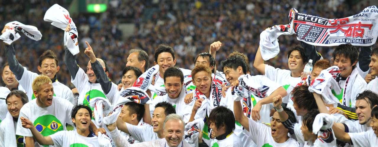 Japón fue el primer representativo enasegurar su lugar enBrasil 2014.