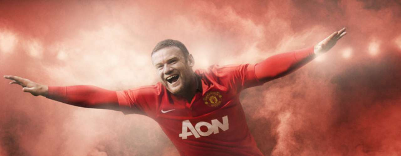 Although his future with the team is questionable, Wayne Rooney was still one of the stars of the campaign debuting the new NIKE jerseys.