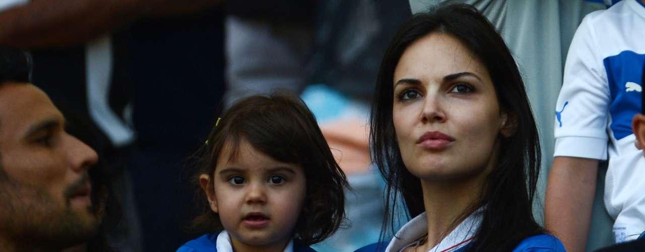 El partido contra México reunió a los familiares del equipo italiano.