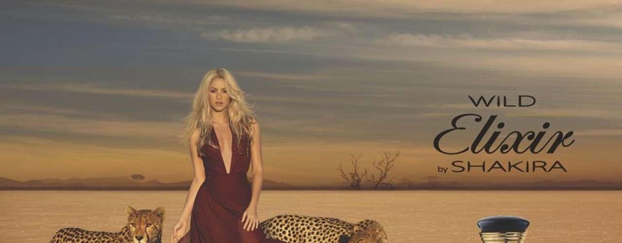 Shakira lanzó el 23 de junio de 2013, 'Elixir' su fragancia más salvaje hasta ahora, que promovió con una excitante campaña visual. Las fotos publicitarias y el comercial para televisión muestran a la cantante colombiana rodeada de dos hermosos guepardos. Shaki se aseguró en su Twitter de encender la curiosidad de sus fans posteando la foto sin el nombre del perfume un par de días antes de su lanzamiento.