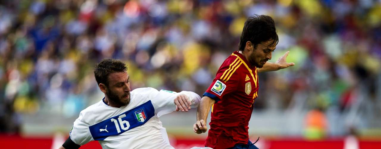 La oportunidad más clara de gol fue para Italia en la primera mitad.