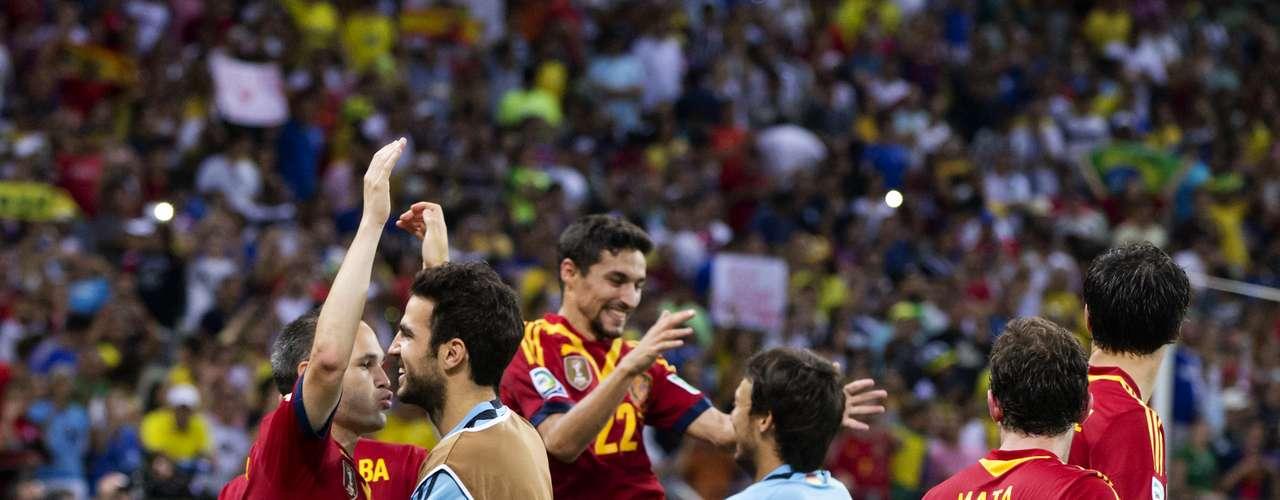 Júbilo español, igual que en la final de la Eurocopa del año pasado.