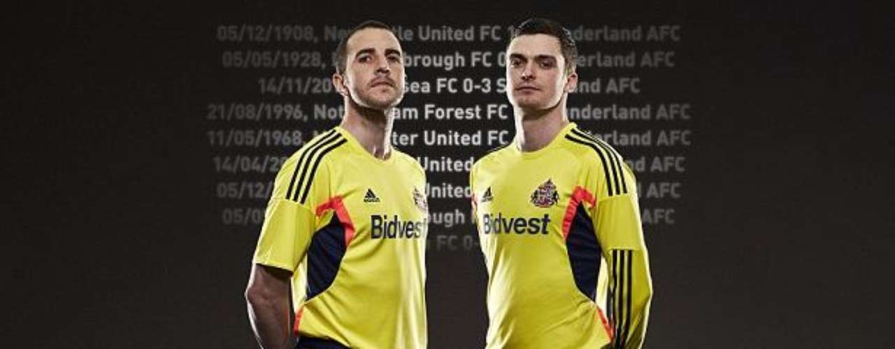 Sunderland will continue the bright yellow trend in the Premier League with their new uniforms.
