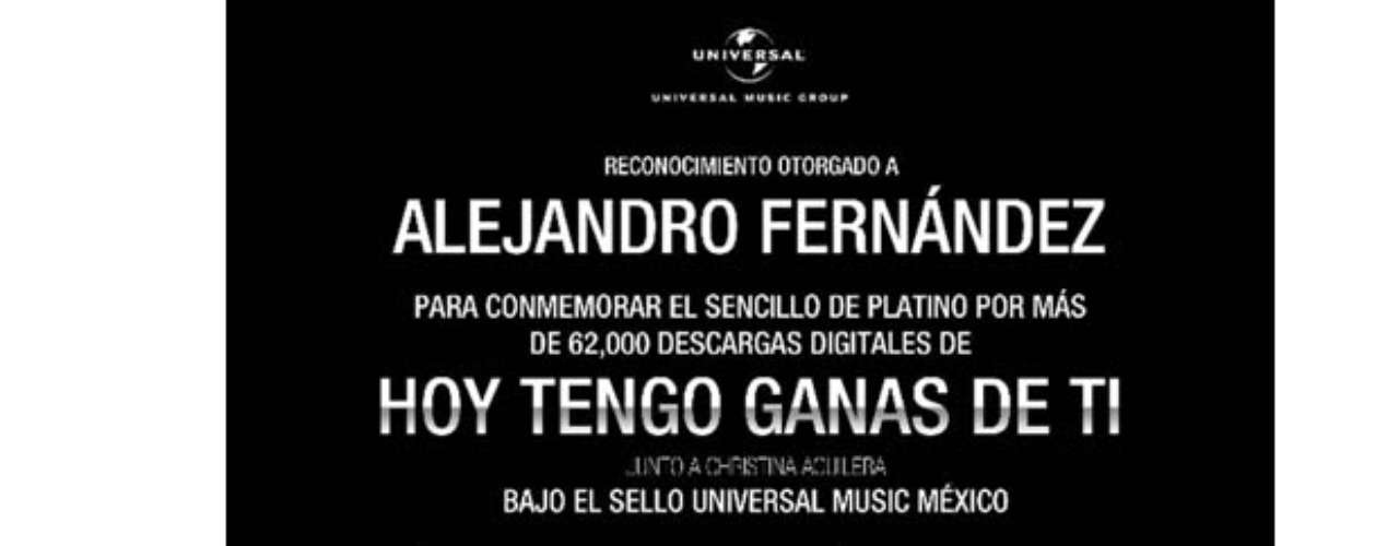 ¡Qué éxito! Alejandro Fernández obtuvo disco de platino en México por las descargas digitales que tuvo su nuevo single \