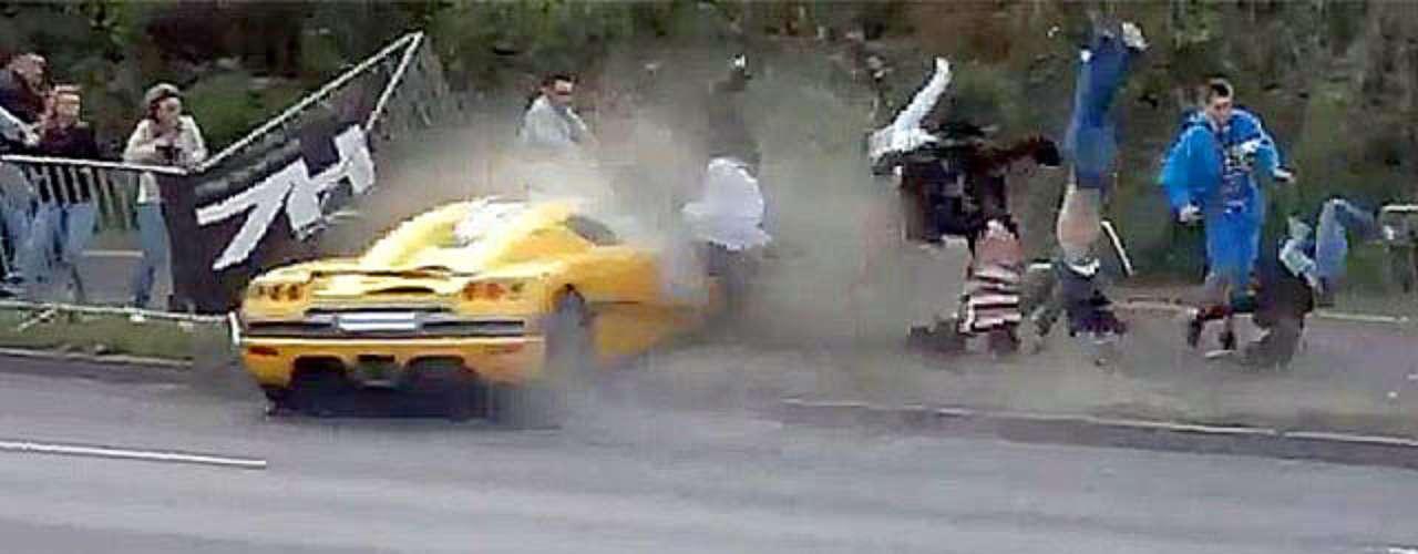 El 1 de julio, un automovilista noruego chocó su \