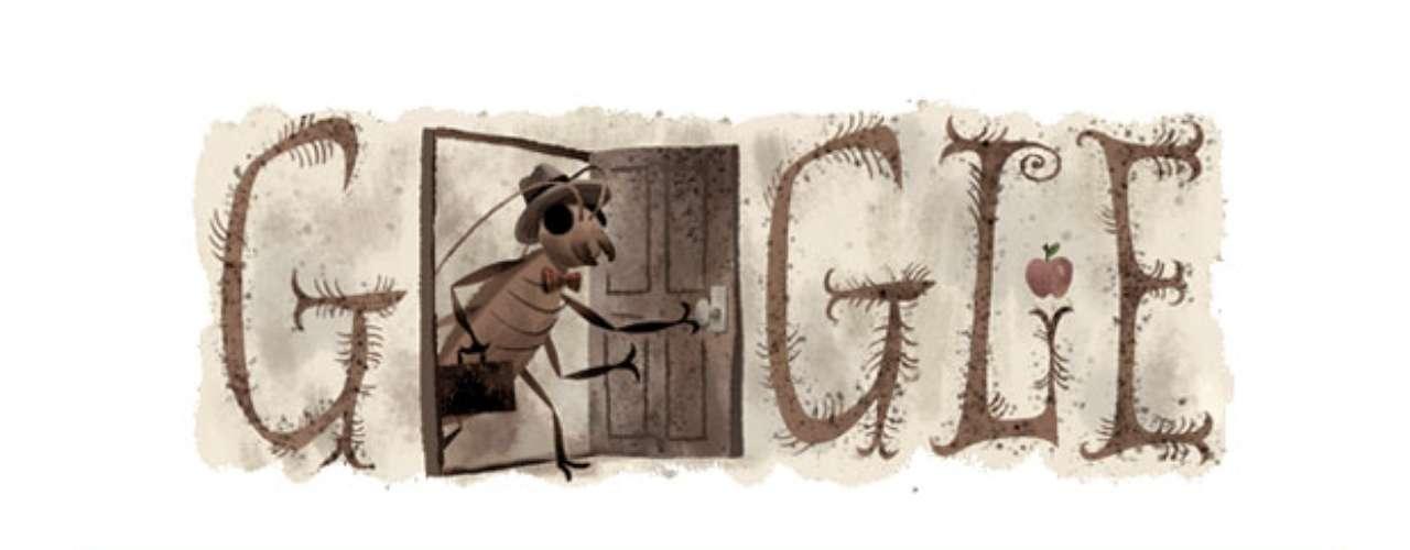 En el doodle de este 03 de julioGooglerinde homenaje aFranz Kafkauno de los escritores más influyentes de la literatura universal con un doodle. Googlecolocó en su motor de búsqueda una ilustración de una de sus obras más famosas, La Metamorfosis publicada en 1917.
