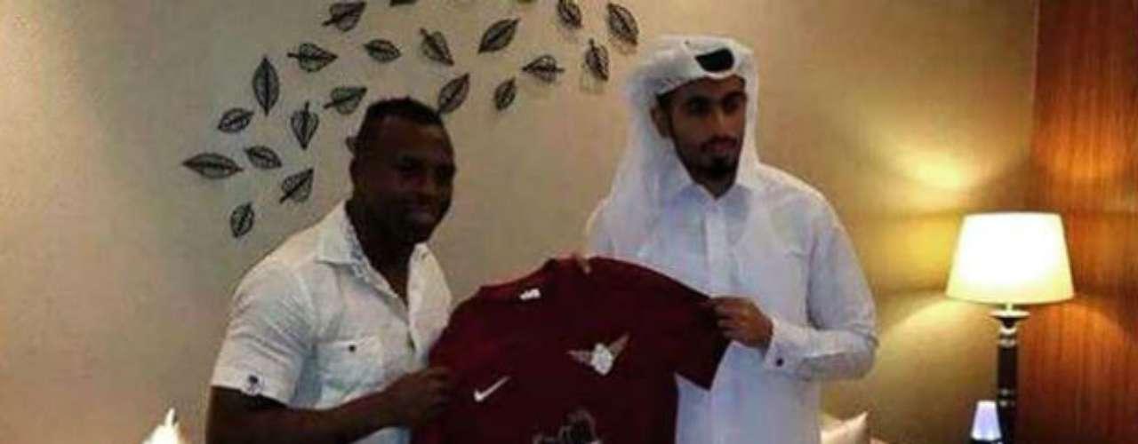 Christian Benítez, tricampeón de goleo del futbol mexicano y reciente monarca de liga con las Águilas, ya fue presentado con el club Jaish SC de Qatar.