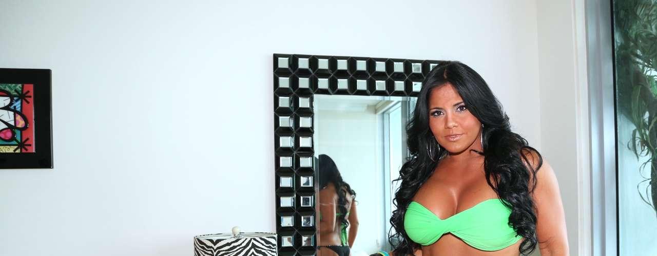 ¿Cómo le va el color verde a Maripily? ¡Hermosa!