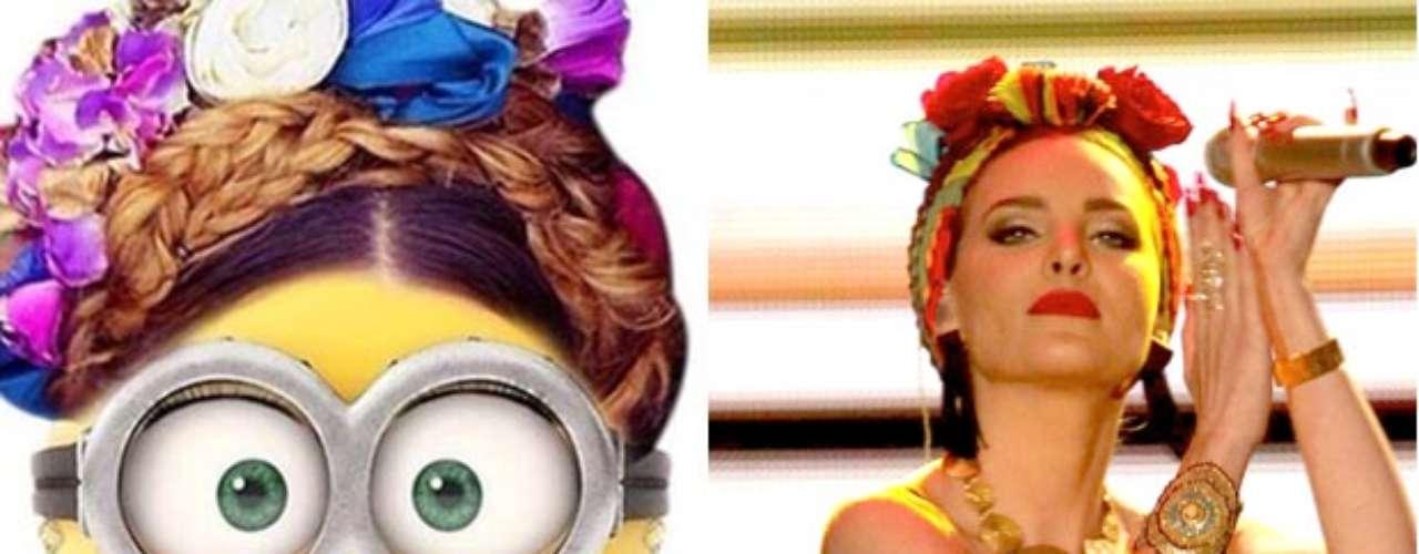 A Belinda le gustó tanto la imagen que le diseñó una fan al estilo \