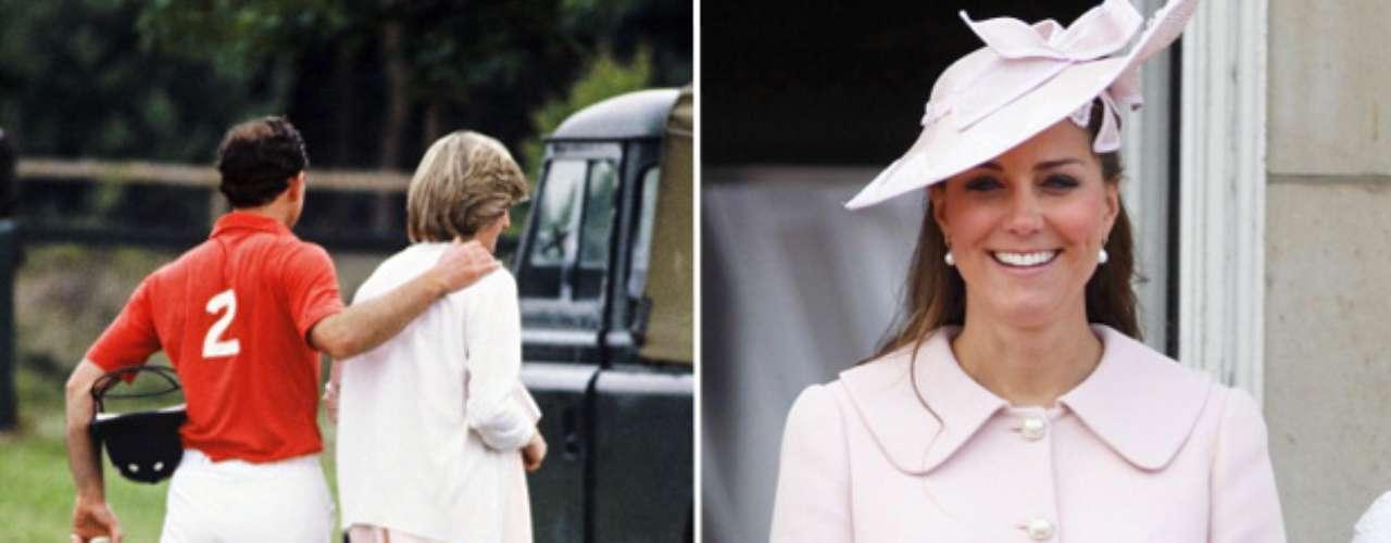 Durante el embarazo, Kate ha optado en muchas ocasiones por vestir colores pastel,como en su momento escogió Lady Di.