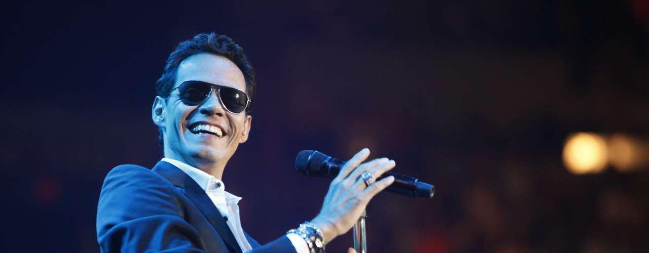 Agosto 26, 2013:Marc Anthony armó una fiesta durante su concierto en el American Airlines Arena en Miami, Florida.