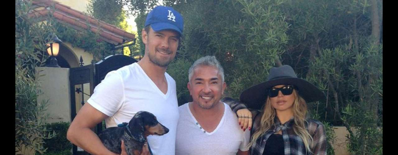 29 de Agosto - Cesar Millan, 'el encantador de perros', fue al auxilio de Fergir y su esposo Josh Duhamel quienes quieren entrenar a sus mascotas antes de la llegada de su bebé
