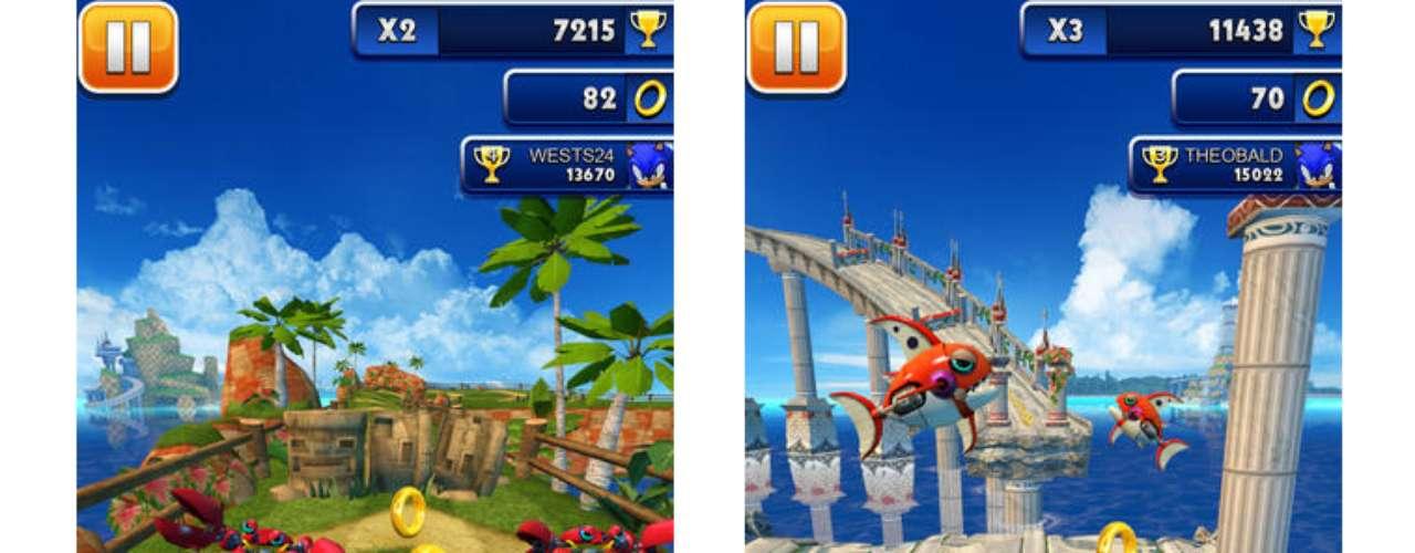 5 - Sonic Dash - desarrollado por SEGA