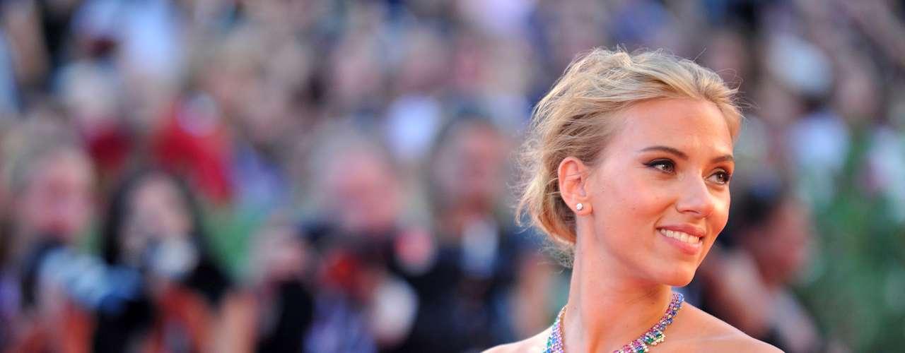 Scarlett Johansson, la actriz estadounidense que destacó entre las celebridades del evento