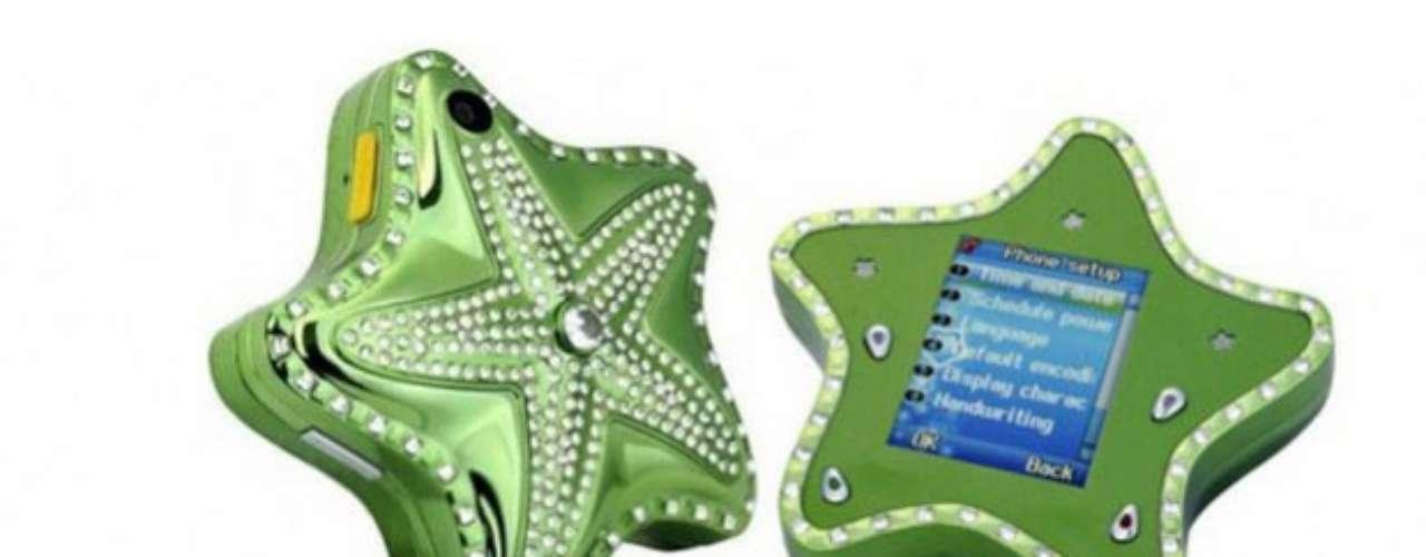 Starfish Diamond. Un móvil con forma de estrella de mar e incrustaciones de diamantes sólo apto para \