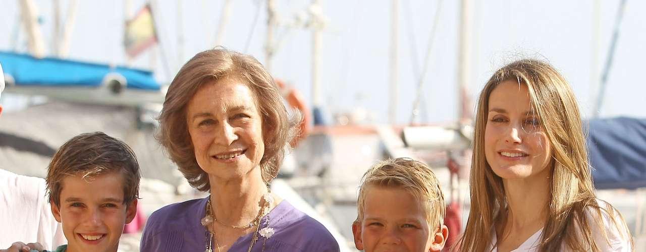 Esta ha sido una de las pocas fotos en familia de este verano de la Familia Real española.