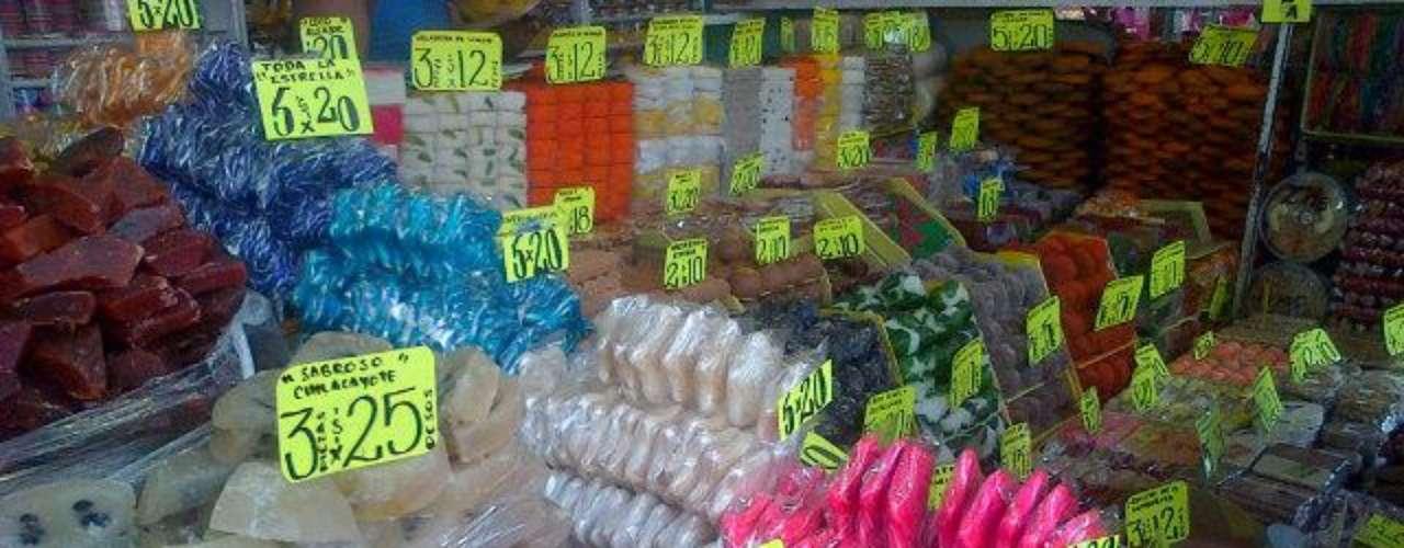 Mercado de dulces de la Ciudad de México. Este mercado es el centro ...
