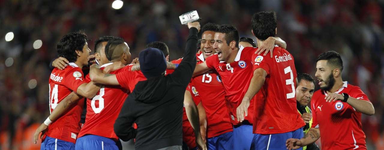 El festejo fue en grande d elos chilenos.