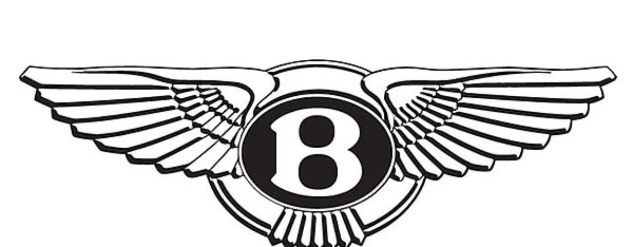Bentley. Se plasma la sigla del apellido de su fundador en medio de dos alas extendidas, que hacen referencia a la velocidad de sus primeros modelos.