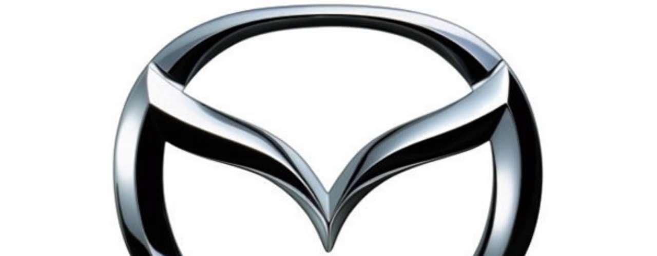 Mazda. El logo fue diseñado por el famoso Rei Yoshimara, donde la V representa unas alas extendidas que significan; la creatividad, el sentido de misión, la gentileza y la flexibilidad de la marca.