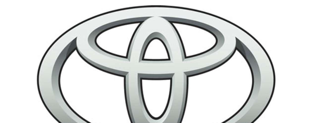 Toyota. El logo se creó en 1990, y consiste en tres elipses, cada una con dos puntos centrales. Un punto representa el corazón del cliente y el otro el corazón del producto. Cada elipse unifica los dos corazones y dos de ellas se combinan para simbolizar la inicial del nombre de la marca.