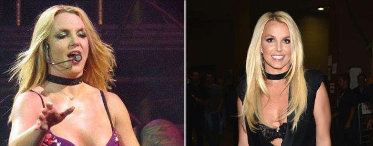Britney Spears. Tuvo una época de cambios drásticos en su vida en donde su imagen sufrió grandes transformaciones, sin embargo,Britney logró bajar de peso y lucir una figura acorde a su constitución física.