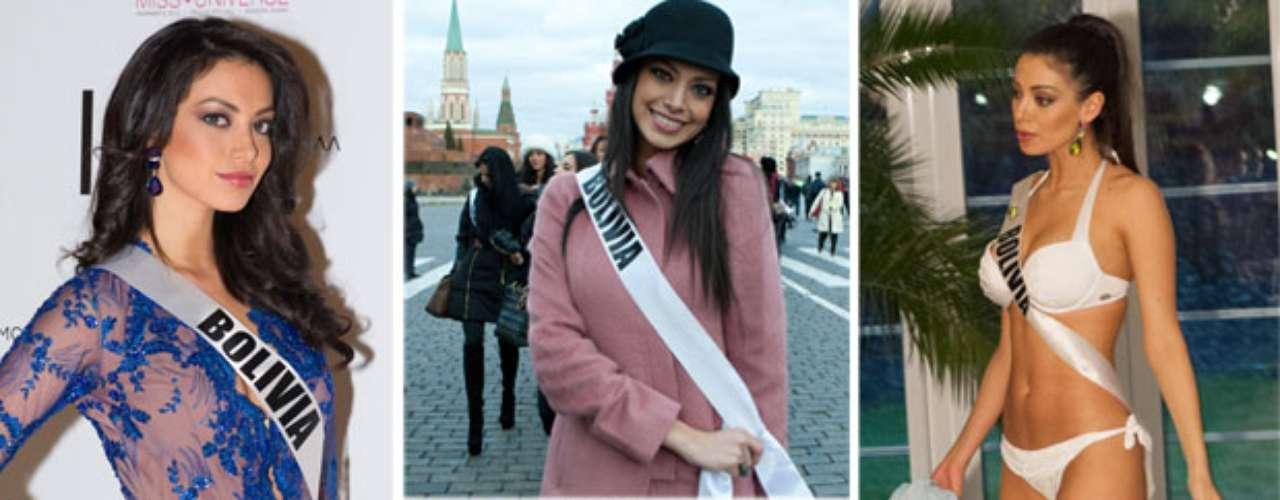 De imponente belleza y mirada muy expresiva Miss Bolivia, Alexia Laura Viruez Pictor. Tiene 19 años de edad y procede de Santa Cruz de la Sierra.