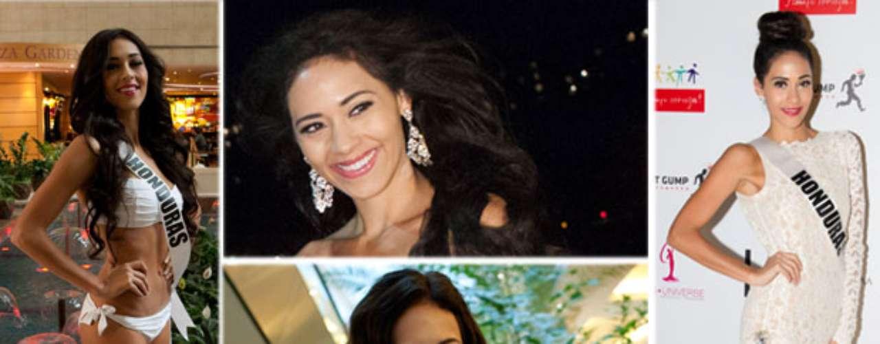 Femenina y muy sofisticada Miss Honduras, Diana Schoutsen Mendoza. Con 26 años de edad y residente de Hamilton en Canadá