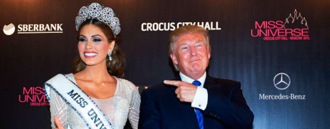 Una vez finalizó el certamen de Miss Universo 2013, Donald Trump, presentó a la nueva soberana, María Gabriela Isler. \