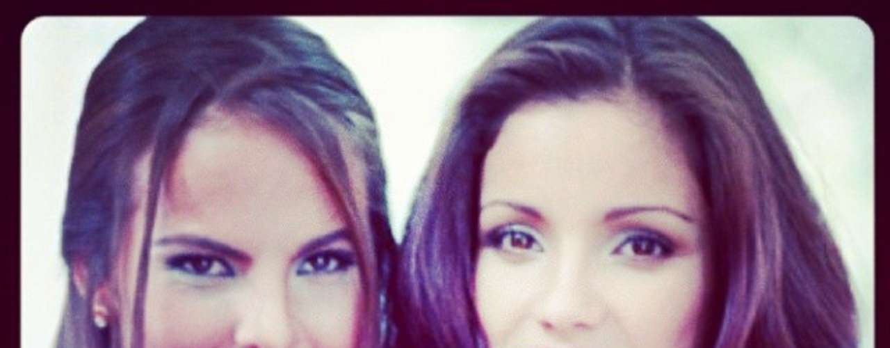 18 de Noviembre - Kate del Castillo publicó esta imágen comentando que Karla Álvarez, su colega y amiga, \