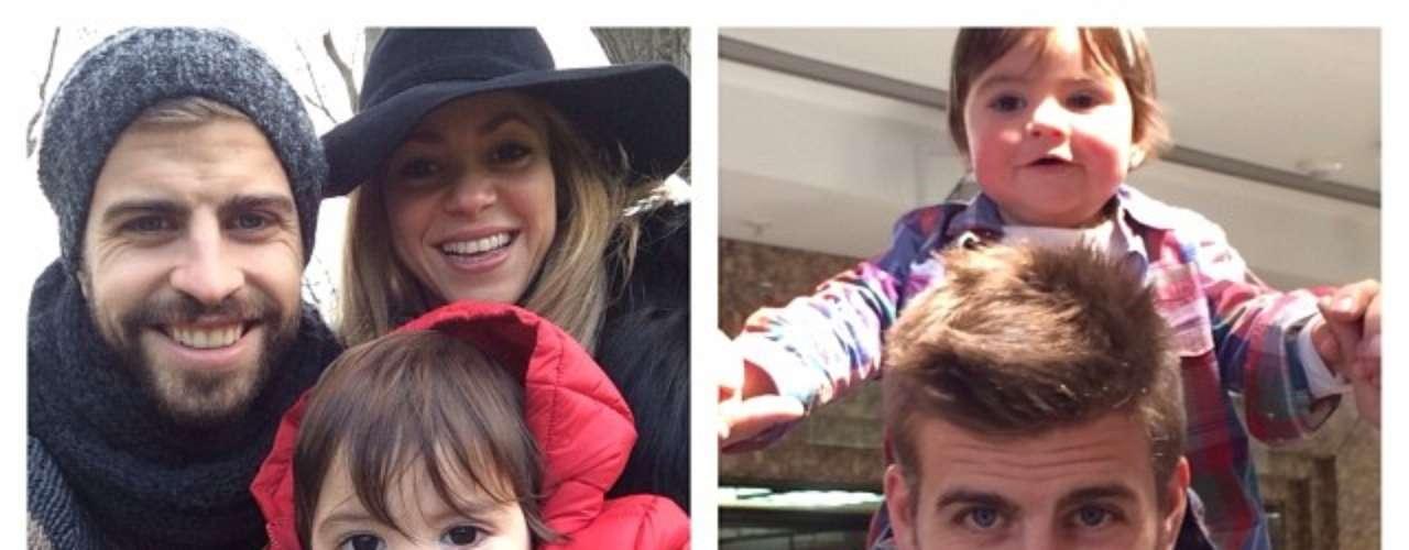 18 de Noviembre - Shakira compartió adorables imágenes en las que aparece hermosa y sonriente junto al futbolista Piqué y el hijo de ambos, Milán.
